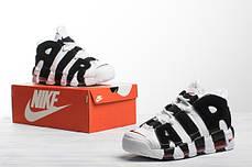 Мужские кроссовки в стиле Nike Air More Uptempo White/Black, фото 3
