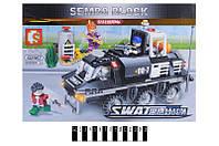 """Конструктор """"SEMBO SWAT"""" """"Бронетранспортер"""" (коробка) 368дет. 102367 р.36*24,5*5,5см, шт"""