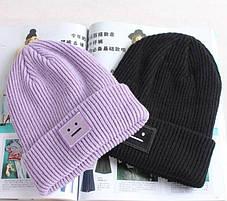 Стильная женская шапка с смайликом, фото 3