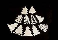 Елочки из фанеры. Новогодние игрушки из дерева, заготовки для декорирования