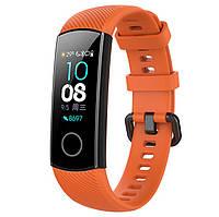 Силиконовый ремешок Primo для фитнес-браслета Huawei Honor Band 4 / 5 - Orange, фото 1