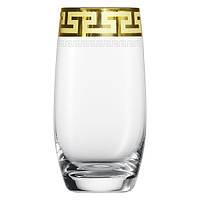 """Набор стаканов 300мл с позолотой  6шт.  """"Греческий узор"""""""