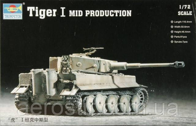 Tiger I Mid Production 1/72 Trumpeter 07243