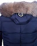 Зимова підліткова куртка,темно-синя, 38-44, фото 9