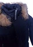 Зимова підліткова куртка,темно-синя, 38-44, фото 8