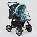Детская коляска-трансформер 2в1 темно-серая с бирюзой Viki 86 Karina сумка дождевик люлька детям с рождения, фото 7