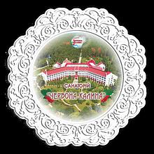 """Тарелка деревянная 23 см Санаторій """"Червона калина"""""""