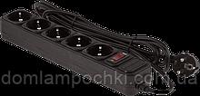 Мережевий фільтр LogicPower LP-X6 4.5 м, 6 розеток Black