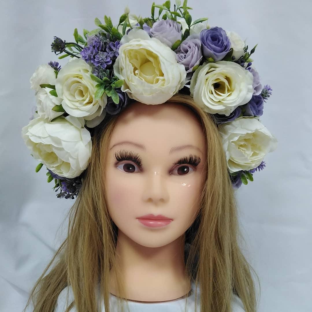 Венок на голову из цветов Волинські візерунки  6_101