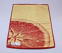 Полотенце махровое лицевое 50х90 см  Цитрус красный