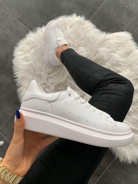 Женские кроссовки Alexander McQueen Full White