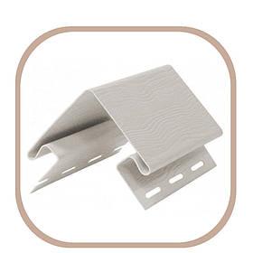 Кут зовнішній для фасадного сайдинга кольоровий // білий