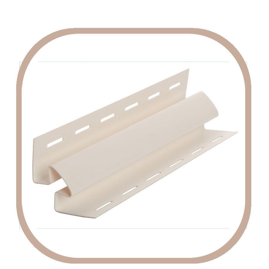 Угол внутренний для винилового сайдинга цветной // белый