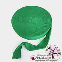Трикотажная пряжа в ролике Барва, стандарт 7-9 мм, зеленый