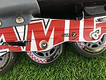 Ролики раздвижные «POWER FLEX M2» с сумкой (р-р 38-41 красные), фото 3