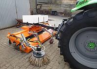 Щетка дорожная на трактор МТЗ с бункером, фото 1