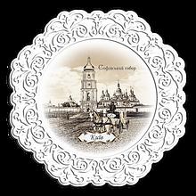 Тарелка деревянная 23 см Київ. Софійський собор