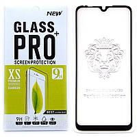 Защитное стекло Full Glue для Xiaomi Mi A3 клей по всей поверхности (Black)