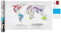 """Скретч карта мира """"Travel Map AIR World"""" (англ)  в тубусе"""