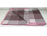 Покрывало Vladi хлопковое летнее клетка 170*210 двуспальное розовое