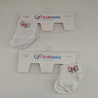 Детские летние носки для девочки, 0-1 мес. (Турция)