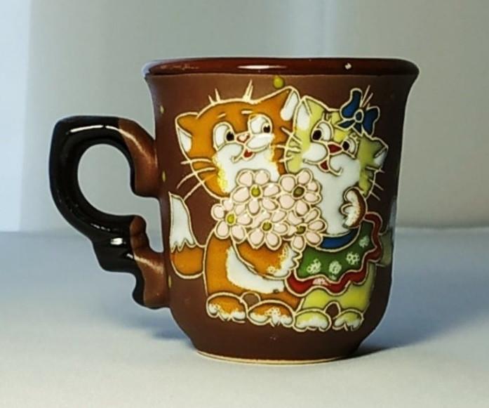 """Чашка кофейная 150мл """"Котята с букетом"""""""