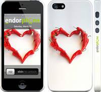 "Чехол на iPhone 5 Любовь с перцем ""730c-18"""