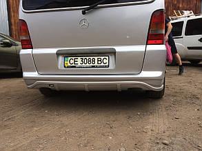 Накладка на задній бампер (під фарбування) Mercedes Vito w638