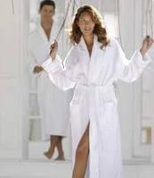"""Белый махровый халат """"Премиум"""" шалевый воротник р. 54-48 на рост 182 см."""