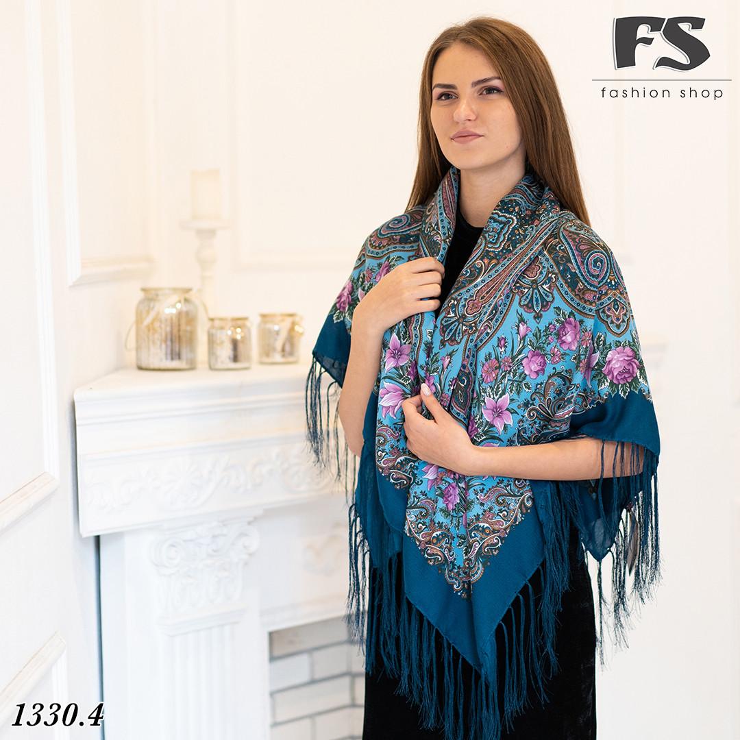 Павлопосадский шерстяной  платок  Рококо