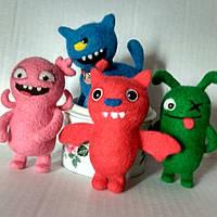 Валяная игрушка Монстрики куклы с характером ugly dolls из шерсти милый подарок теплая прелесть