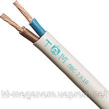 Провод бытовой ПВС белый 2х10,0