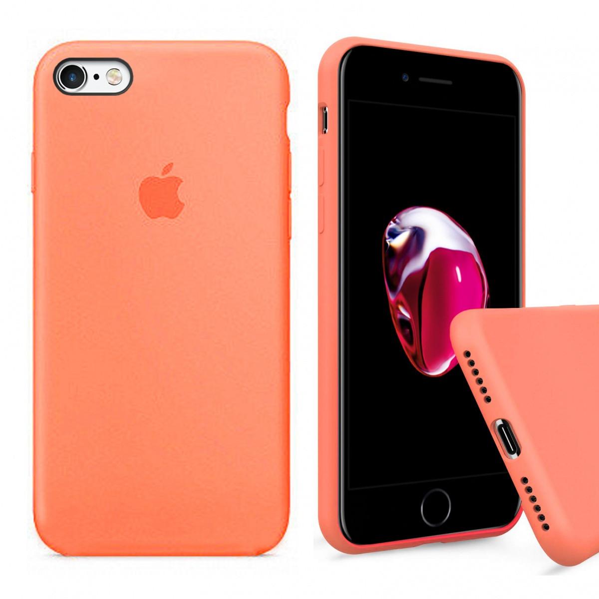Samsung / Чехол накладка xCase для iPhone 6/6s Silicone Case Full papaya