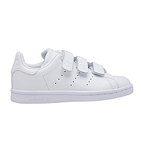 Кроссовки Adid*s Stan Smith Velcro White (реплика), фото 1