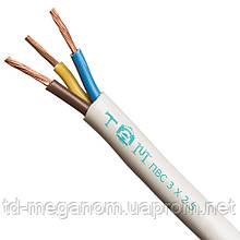 Провод бытовой ПВС белый 3х2,5