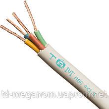Провод бытовой ПВС белый 4х1,5