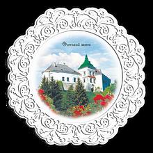"""Тарелка деревянная 23 см  Олесько. """"Олеський замок"""""""