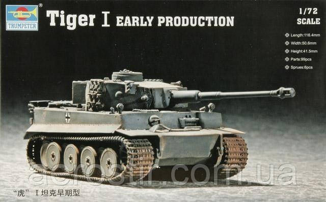 Tiger I Early Production 1/72 Trumpeter 07242