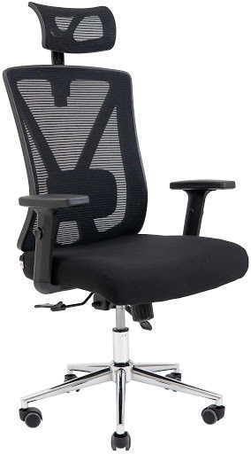 Офісне крісло Richman Інтер Хром М2 сітка чорна