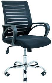 Офісне крісло Richman Флеш спинка-сітка чорна хром коліщата