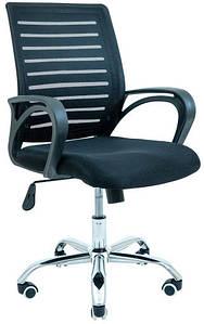 Офисное кресло Richman Флеш спинка-сетка черная хром колесики