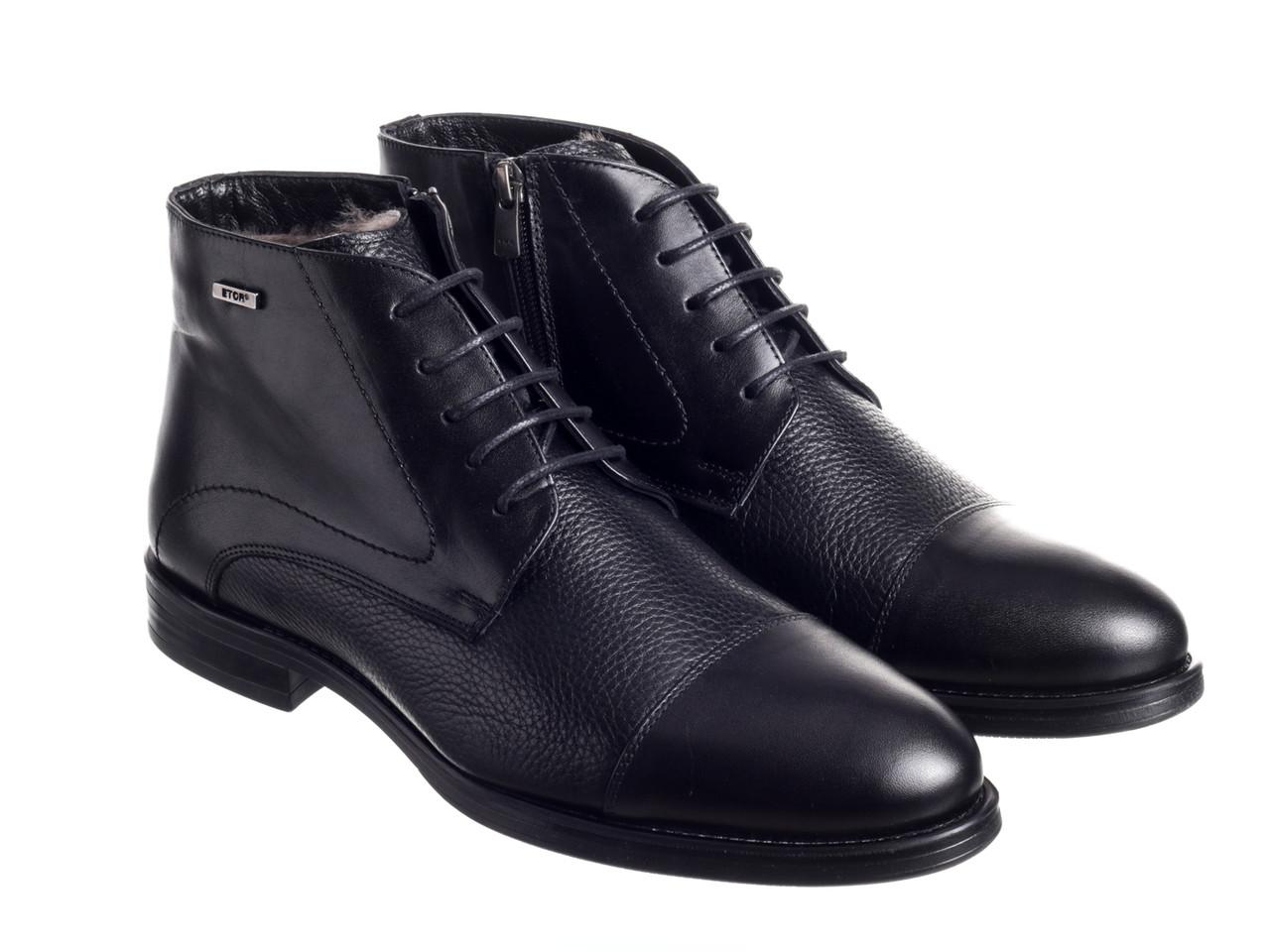 Черевики Etor 15362-7376 чорний
