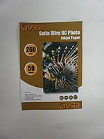 Фотобумага Crystal 260г/м2, 10х15, 50л. RC Satin (Сатин), пластиковое покрытие