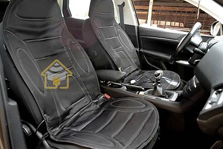 Накидка на сиденье с подогревом высокая черная, Lavita LA 140402BK, фото 2