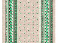 Скатертина льняна Зелений орнамент 2.2м х 1.5м ТМУКРАЇНА