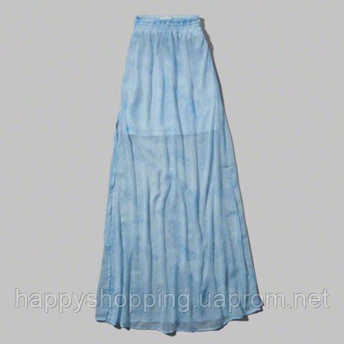 Голубая макси юбка Abercrombie&Fitch