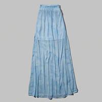 Голубая макси юбка Abercrombie&Fitch, фото 1