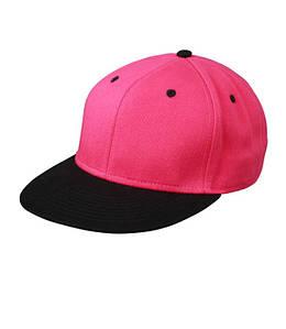 Кепка Cнепбек Розовый / Чёрный