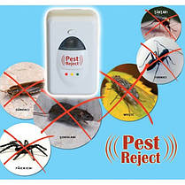 Отпугиватель насекомых и грызунов Pest Reject электромагнитные волны + ультразвук, фото 3