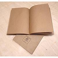 Блок крафт бумаги формат А5 для кожаных блокнотов, фото 1